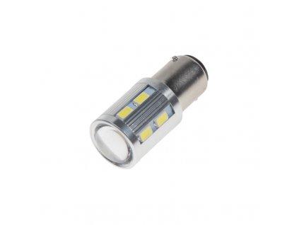 LED BA15D bílá, 12SMD 5630 + 3W Osram 10-30V - 95C-BA15D-3