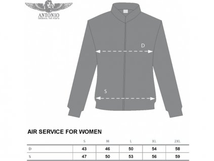 Antonio dámská mikina Air Service L - ANT1311630215