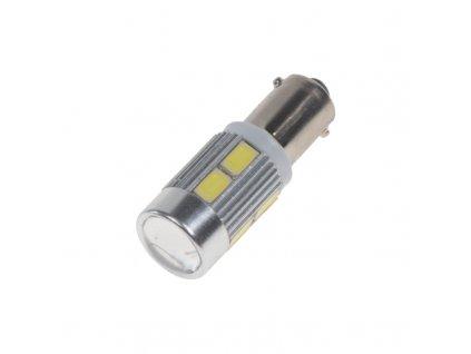 LED BA9s bílá, 12-24V, 10LED/5730SMD - 95174