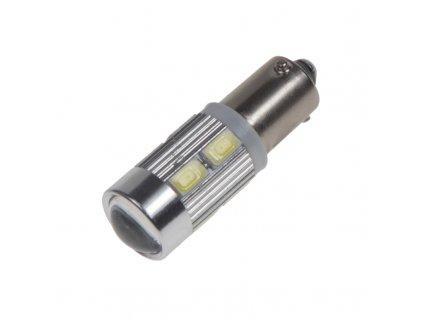 LED BAX9s bílá, 12-24V, 10LED/5730SMD - 95404
