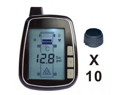 TPMS kontrola tlaku v pneumatice 10 externích čidel - tpms610