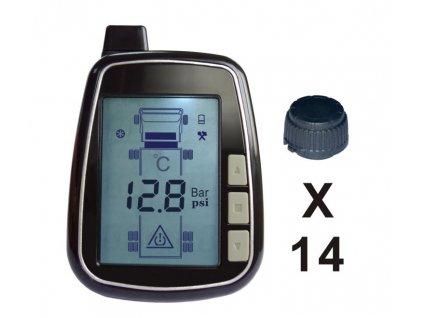 TPMS kontrola tlaku v pneumatice 14 externích čidel - tpms614