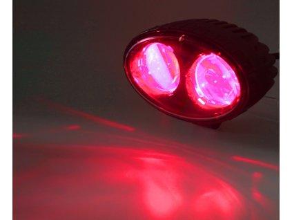 PROFI LED výstražné bodové světlo 10-48V 2x4W červené 143x122mm, ECE R10 - wa-008r