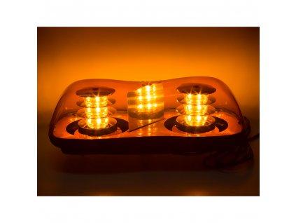 LED rampa oranžová, 36LEDx3W, fix, 12-24V, 419mm, ECE R65 R10 - sre2-231fix