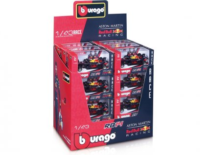 Bburago Red Bull Racing RB14 1:43 (sada 24ks) - BB18-38135