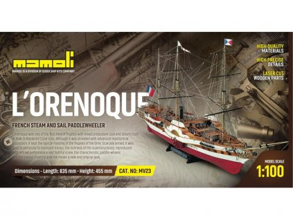 MAMOLI L'Orenoque 1848 1:100 kit - KR-21723