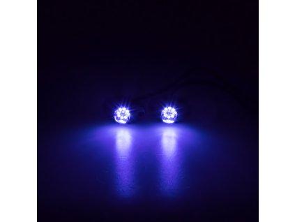 LED stroboskop modrý 8x3W, 12-24V - kf708blu