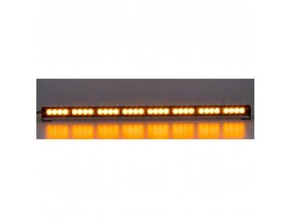 LED světelná alej, 32x 3W LED, oranžová s displejem 910mm, ECE R65 - kf756DI-8