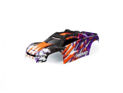 Traxxas karosérie E-Revo fialová sestavená - TRA8611T