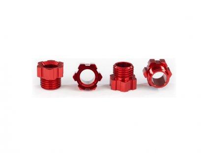 Traxxas matice hřídele hliníková červená (4) - TRA8886R