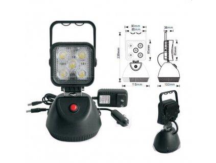 AKU LED světlo s magnetem, 5x3W, 220x115mm - wl-Li15