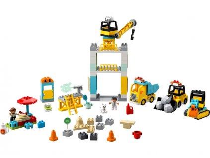 LEGO DUPLO - Stavba s věžovým jeřábem - LEGO10933