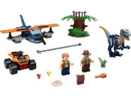 LEGO Jurský Park - Velociraptor: Záchranná mise s dvouplošníkem - LEGO75942