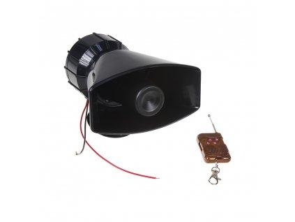 Hobby výstražný systém, siréna 4-tónová 100W, dálkové ovládání - SI-106