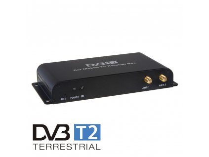 DVB-T2/HEVC/H.265 digitální tuner s USB + 4x anténa - dvb-t05