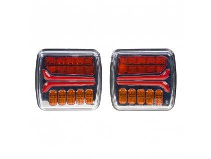Sdružená LED lampa zadní s dynamickými blinkry 12/24V - trl21led