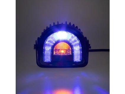 PROFI LED výstražné světlo-oblouk 10-80V modré, 138x126mm - wa-015
