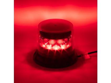 PROFI LED maják 12-24V 24x3W červený čirý 133x110mm, ECE R10 - 911-C24fredCl
