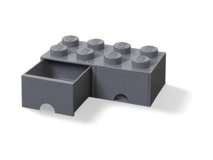 LEGO úložný box s šuplíky 250x500x180mm - tmavě šedý - LEGO40061754
