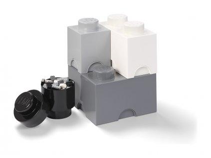 LEGO úložné boxy Multi-Pack černá, bílá, šedá - 4ks - LEGO40150003