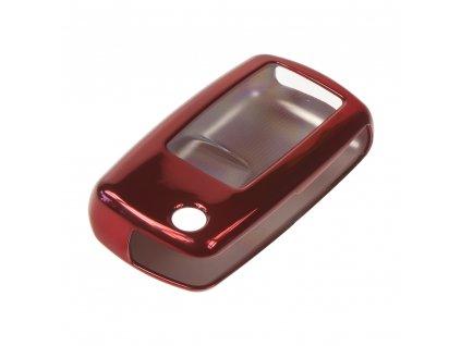TPU obal pro klíč Škoda, VW, Seat 3-tlačítkový, tmavě červený - 481VW105red2