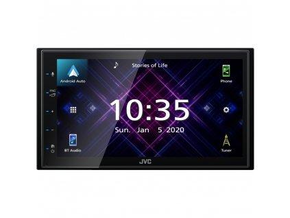 "JVC 2DIN autorádio/6,8"" displej/USB/AUX/Bluetooth/Apple CarPlay / Android Auto - KW-M560BT"