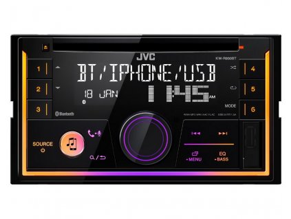 JVC 2DIN autorádio s CD/USB/AUX/Bluetooth/Multicolor - KW-R930BT