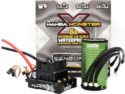 Castle motor 1717 1650ot/V senzored, reg. Mamba Monster X 8S - CC-010-0165-02
