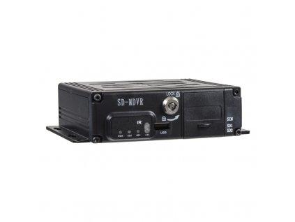 Černá skříňka pro záznam obrazu ze 4 kamer, GPS, 2x slot SD - dvrb4d-2
