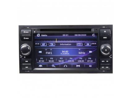 """Autorádio pro Ford 2005-2012 s 7"""" LCD, GPS, ČESKÉ MENU - 80894"""