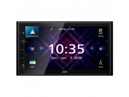 "JVC 2DIN DAB / FM autorádio/6,8"" displej/USB/AUX/Bluetooth/Apple CarPlay / Android Auto - KW-M565DBT"