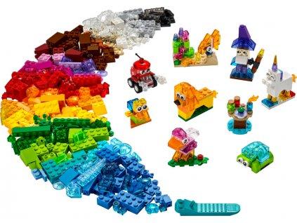 LEGO Classic - Průhledné kreativní kostky - LEGO11013