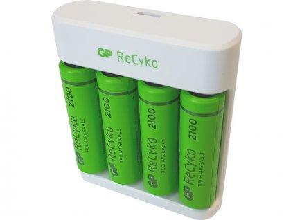 GP USB nabíječ Eco E411 + 4AA GP ReCyko 2100 - EM-B51414