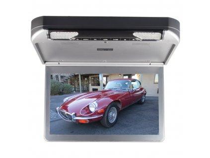 """Stropní monitor 13,3"""" šedý s DVD/SD/USB/IR/FM/HDMI - ic-133d"""