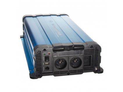 Sinusový měnič napětí z 12/230V, 4000W / dálkové ovládání s displejem - 35psw4012DR