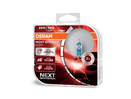 OSRAM 12V H11 55W night breaker laser (2ks) Duo-box - OS64211NL-HCB