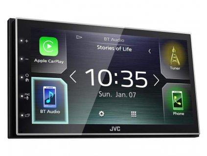 "JVC 2DIN autorádio/6,8"" displej/USB/AUX/Bluetooth/Apple CarPlay / Android Auto - KW-M741BT"