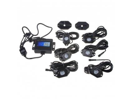 LED podsvětlení podvozku RGB 12-24V, Bluetooth, 18x3W - LEDrockRGB4