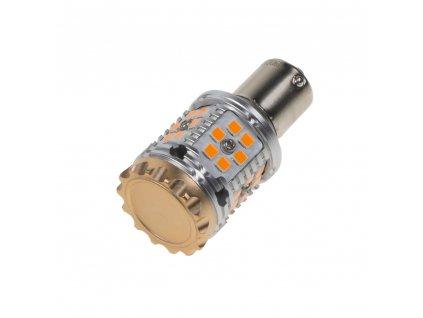 LED BAU15s oranžová, CAN-BUS, 12-24V, 30LED/3030SMD - 95CB101ora