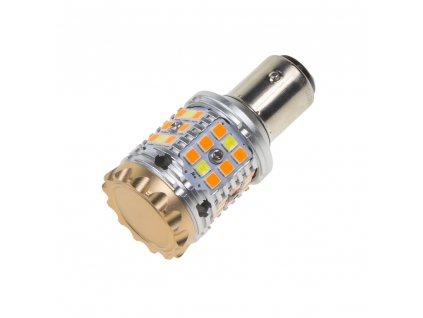 LED BAY15D bílá/oranžová, CAN-BUS, 12V, 40LED/3030SMD - 95CB158