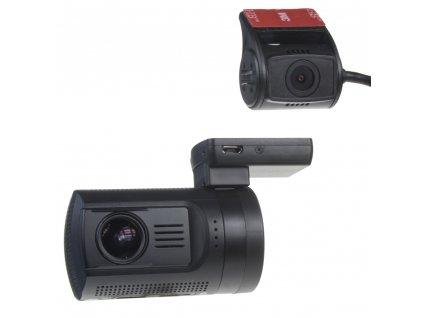 """DUAL miniaturní FULL HD kamera, GPS + 1,5"""" LCD, HDR, dálkové ovl. - dvrb24dual"""