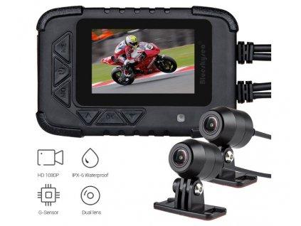 "Motocyklová DUAL FULL HD kamera, 2,4"" LCD, IP67 s GPS - dvrb06m"