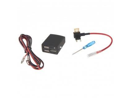 2x USB nabíječka pro DVR kamery s park. modem a kontrolou odpojení při poklesu napětí - dvrbUSB