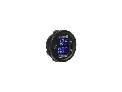 Digitální ampérmetr a voltmetr 5-48V modrý - 34545B