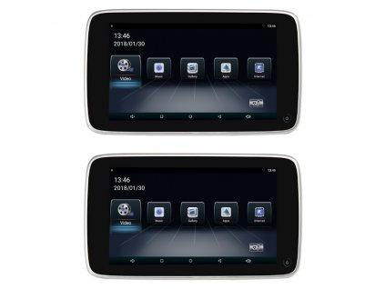 """Set LCD monitorů 10,8"""" OS Android/USB/SD s držákem na opěrku pro VOLVO - ds-x108Vo"""