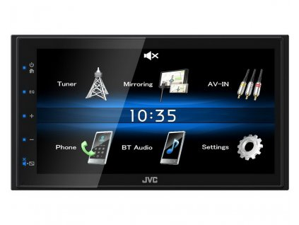"JVC 2DIN autorádio/6,8"" displej/USB/AUX/Bluetooth - KW-M25BT"
