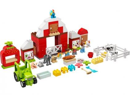 LEGO DUPLO - Stodola, traktor a zvířátka z farmy - LEGO10952