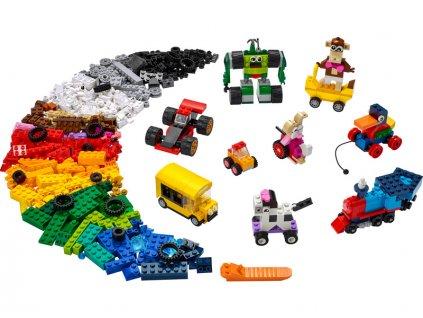 LEGO Classic - Kostky a kola - LEGO11014
