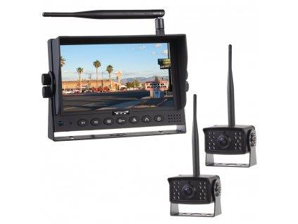 """SET bezdrátový digitální kamerový systém s monitorem 7"""" AHD + 2x bezdrátová AHD kamera - svwd706setAHD2"""