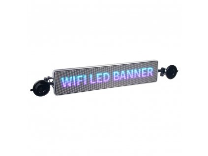 Wifi LED banner – plnobarevný displej s vysokým jasem 49,5 cm x 11 cm - LED-banner1
